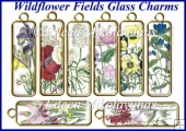 Wildflower Fields Glass Charms