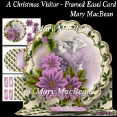 A Christmas Visitor - Framed Easel Card