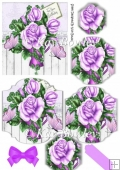 lilac roses with butterflies bracket pyramids