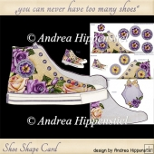 Sneaker Shoe Shape Card lilac Rose