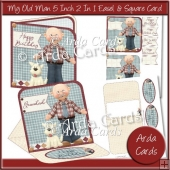 My Old Man 5 Inch 2 in 1 Easel & Square Cards