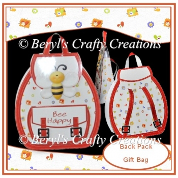 Back Pack Gift Bag - Bee Happy