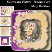 Flowers and Flutters - Pendant Card