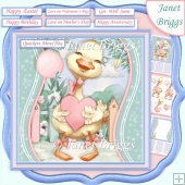 QUACKERS ABOUT YOU 7.5 Decoupage Card Kit Various Occasions