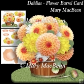 Dahlias - Flower Barrel Card