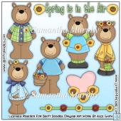 Spring Is In The Air Bears Clip Art Download