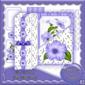 Blue Petunia Gift Box Card