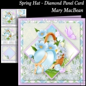 Spring Hat - Diamond Panel Card