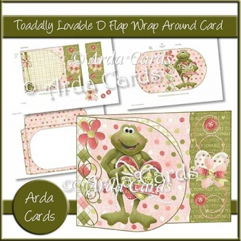 Toadally Lovable D Flap Wrap Around Card