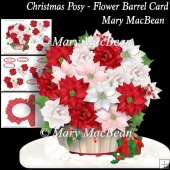 Christmas Posy - Flower Barrel Card