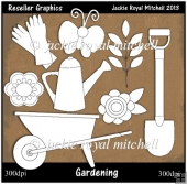 Gardening Colour Your Own Reseller Clipart