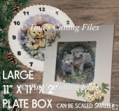 Large Gift Box 11 x 11 x 2 inches, ideal for plates