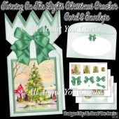 Turning On The Lights Christmas Cracker Card & Envelope