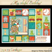 Card Topper 7.5 x 7.5 colorful birthday