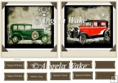 Vintage cars toppers