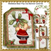 Mistletoe Bear Pop Out Banner Card Kit