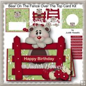 Bear On The Fence Over The Top Card Kit