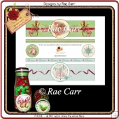 PS192 Christmas Mouse and Noel Bottle Wraps