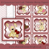 Valentine Bunny Toppers & Backing Papers