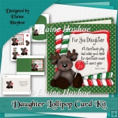 Daughter Lollipop Xmas Card Kit