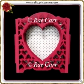 987 Fancy Heart Layered Sliceform Card