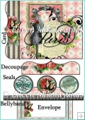 Paris Chic Gatefold Card Set with BellyBand and Seals