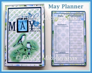 FREE May Planner with Inside Pockets & Calendar Remnder Inserts