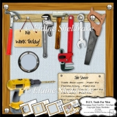 D.I.Y. Tools For Men - Decoupage Easel Card Kit + Envelope
