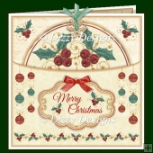 Holly Bauble Pocket Card
