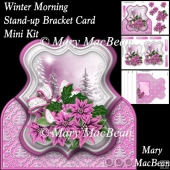 Winter Morning - Stand-up Bracket Card Mini Kit