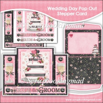 Wedding Day Pop Out Stepper Card