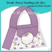 Purple Pansy Handbag Gift Box