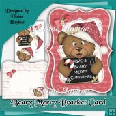 Beary Merry Bracket Shaped Card