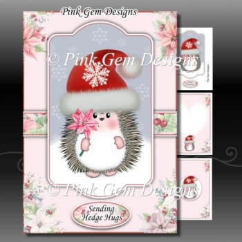Poinsettia Hedgy A5 Pink Mini Kit
