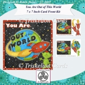 You Are Out of This World 7 x 7 Inch Card Front with Decoupage