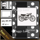 Vintage Motorcycle A5 Mini Kit