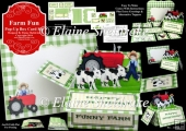 Farm Fun Pop-Up Box Card Kit & Matching Envelope