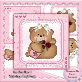 Boo Boo Bear 1 Valentine Card Front