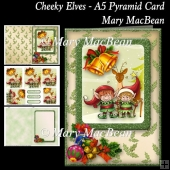 Cheeky Elves - A5 Pyramid Card
