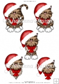 GSD PNC Cute Christmas Kitty Cutting Machine File