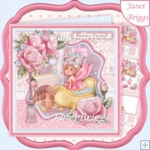 Pamper Yourself Fairy Bubble Bath 8x8 Decoupage & Insert Kit