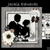Silhouette Bride & Groom Mini Kit