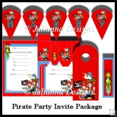 Pirate Party Invite Package