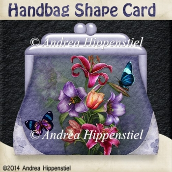 Handbag Shape Card Purple 1
