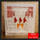 Luxury Christmas Fireplace Card