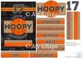 "5x7"" Card Topper 17th Birthday Basketball Theme"