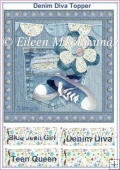 Denim Diva Teen Card Front/Topper