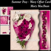 Summer Posy - Wavy Offset Card