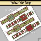 4 Christmas Word Wraps