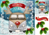 silver toon christmas campervan with holly 8x8